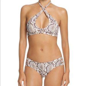 Vitamin A Camila Cross Halter Bikini Set